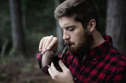 Full Beard Plaid Shirt